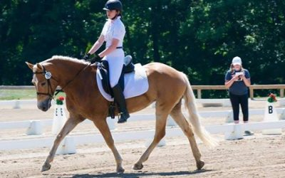 Radiance of New Horizons Dressage Debut